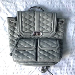 Quilted Backpack w/ Chain straps